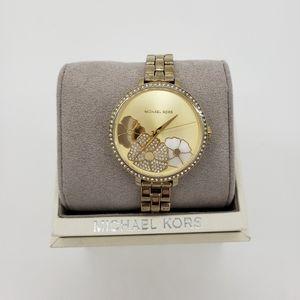 Michael Kors Gold Floral Watch